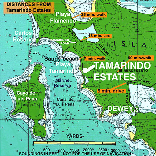Nautical                               chart Tamarindo area