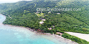 Aerial beach and                   Tamarindo Estates